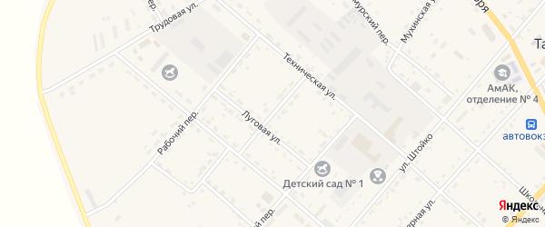 Солнечный переулок на карте села Тамбовки с номерами домов