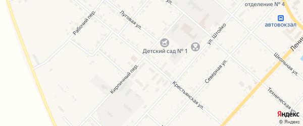 Крестьянская улица на карте села Тамбовки с номерами домов
