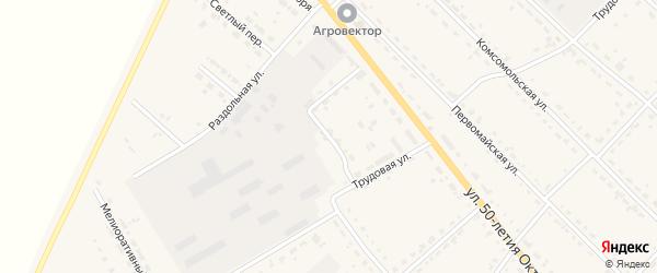 Строительный переулок на карте села Тамбовки с номерами домов