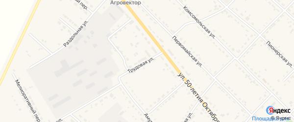 Трудовая улица на карте села Тамбовки с номерами домов