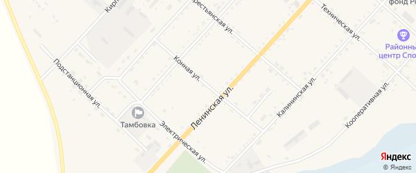 Конная улица на карте села Тамбовки с номерами домов