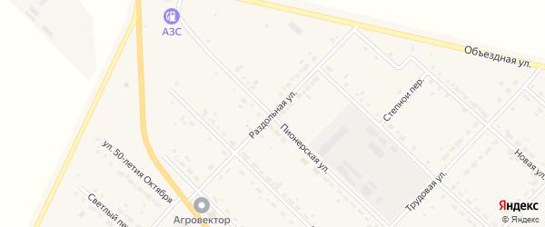 Раздольная улица на карте села Тамбовки с номерами домов