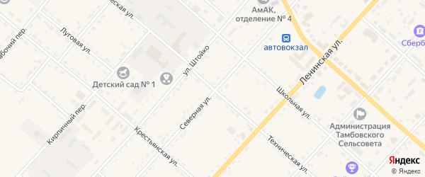 Техническая улица на карте села Тамбовки с номерами домов