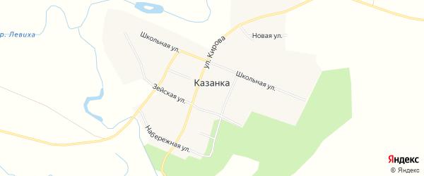 Карта села Казанки в Амурской области с улицами и номерами домов
