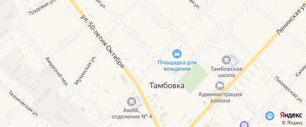 Улица Штойко на карте села Тамбовки с номерами домов