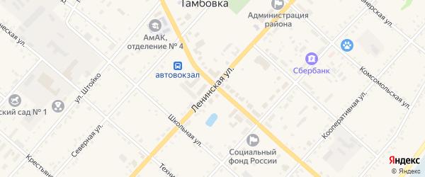 Ленинская улица на карте села Тамбовки с номерами домов