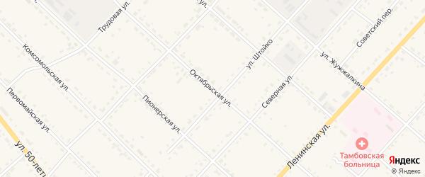 Октябрьская улица на карте села Тамбовки с номерами домов