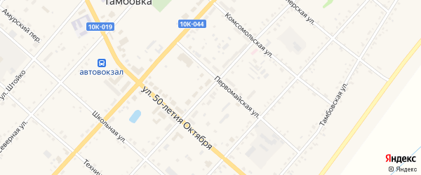 Калининская улица на карте села Тамбовки с номерами домов