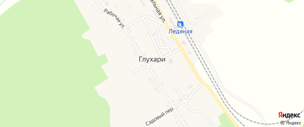 Вокзальная улица на карте села Глухари с номерами домов
