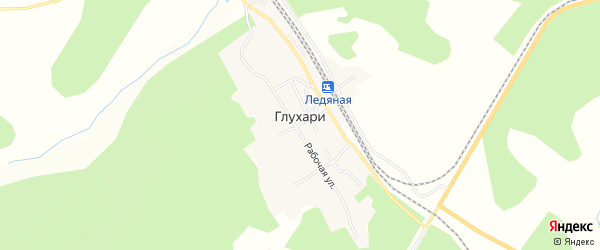 Карта села Глухари в Амурской области с улицами и номерами домов