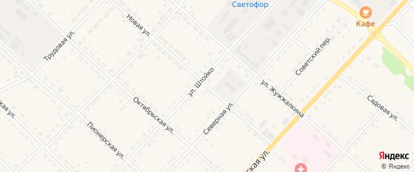 Новая улица на карте села Тамбовки с номерами домов