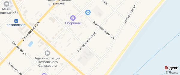 Кооперативная улица на карте села Тамбовки с номерами домов
