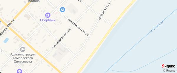 Тамбовская улица на карте села Тамбовки с номерами домов
