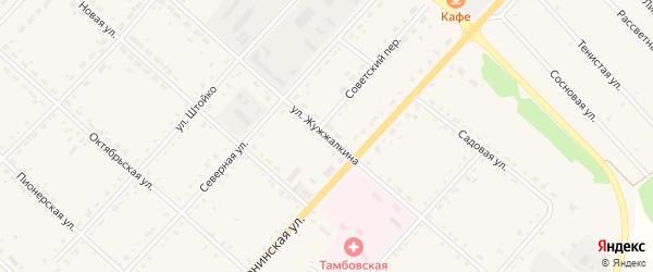 Улица Жужжалкина на карте села Тамбовки с номерами домов