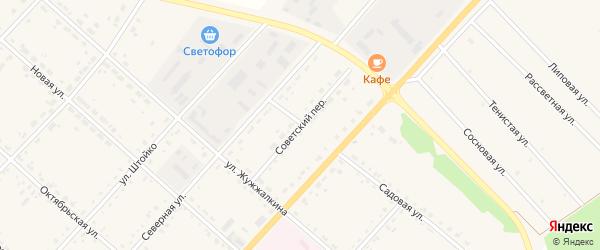 Советский переулок на карте села Тамбовки с номерами домов