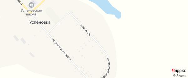 Новая улица на карте села Успеновка с номерами домов
