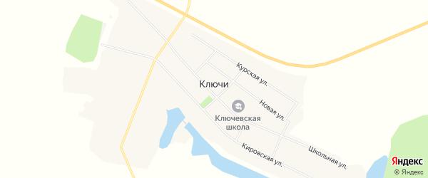 Карта села Ключи в Амурской области с улицами и номерами домов