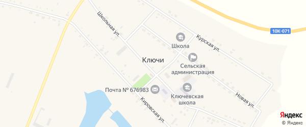 Кировская улица на карте села Ключи с номерами домов