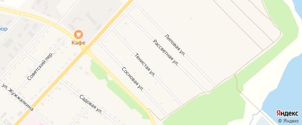 Тенистая улица на карте села Тамбовки с номерами домов