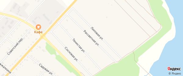 Рассветная улица на карте села Тамбовки с номерами домов