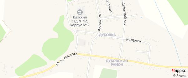 Яровой переулок на карте Свободного с номерами домов