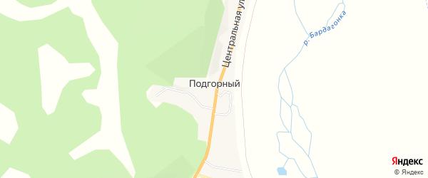 Карта Подгорного поселка в Амурской области с улицами и номерами домов