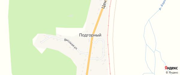Центральная улица на карте Подгорного поселка с номерами домов