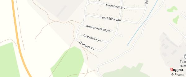 Сосновая улица на карте Свободного с номерами домов