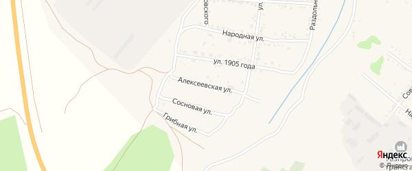 Алексеевская улица на карте Свободного с номерами домов