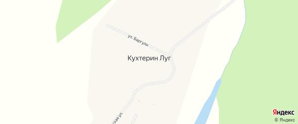 Хуторская улица на карте села Кухтерина Луга с номерами домов