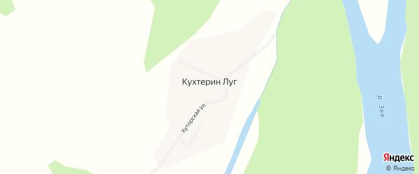 Карта села Кухтерина Луга в Амурской области с улицами и номерами домов