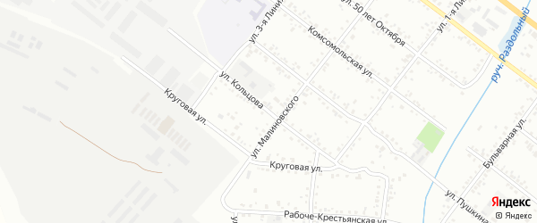 Улица Кольцова на карте Свободного с номерами домов