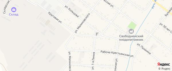 Круговая улица на карте Свободного с номерами домов