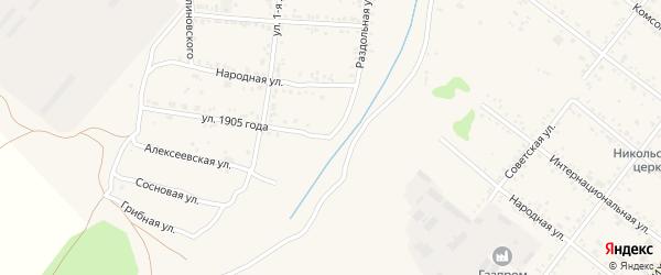 Улица 1905 года на карте Свободного с номерами домов