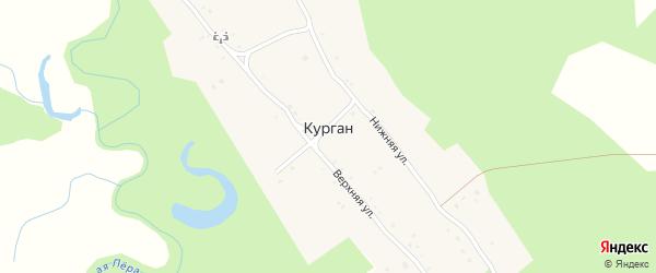 Восточная улица на карте села Кургана с номерами домов