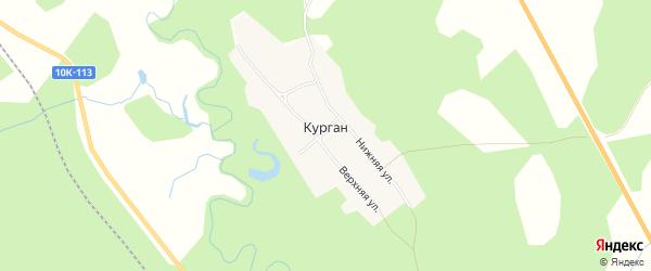 Карта села Кургана в Амурской области с улицами и номерами домов