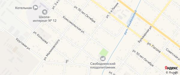 Улица 1-я Линия на карте Свободного с номерами домов