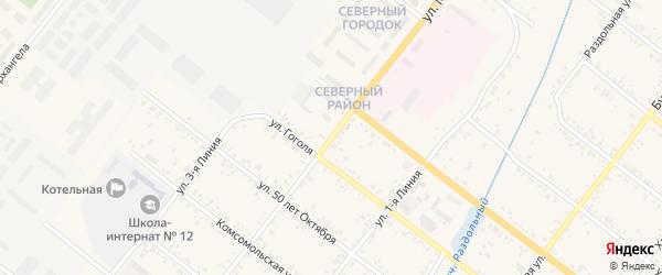 Улица Малиновского на карте Свободного с номерами домов