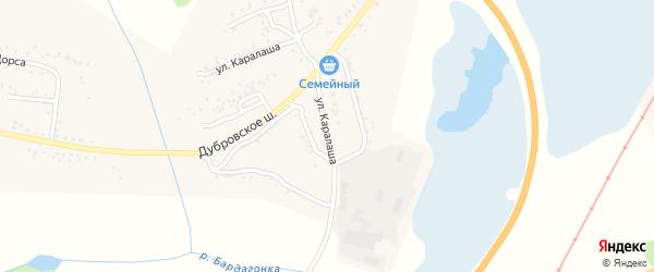 Улица Д.Каралаша на карте Свободного с номерами домов
