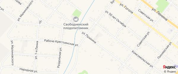 Улица Пушкина на карте Свободного с номерами домов