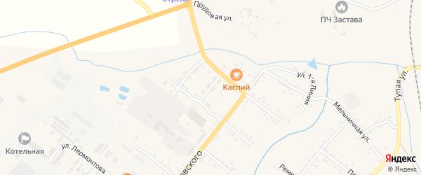 Улица 2-я Линия на карте Свободного с номерами домов
