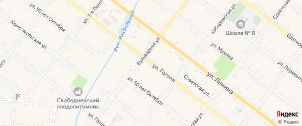 Улица Гоголя на карте Свободного с номерами домов