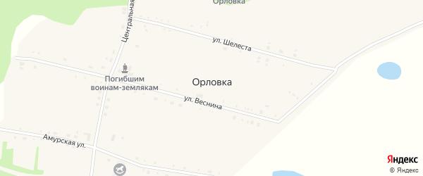 Луговая улица на карте села Орловки с номерами домов