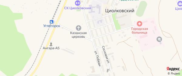 Улица Победы на карте поселка Углегорска с номерами домов