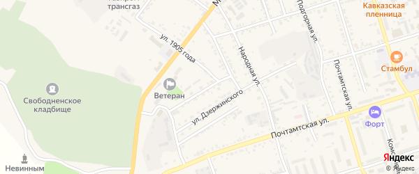 Трансформаторный переулок на карте Свободного с номерами домов