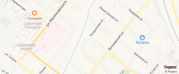 Раздольная улица на карте Свободного с номерами домов