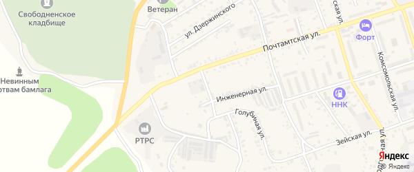 Голубиная улица на карте Свободного с номерами домов
