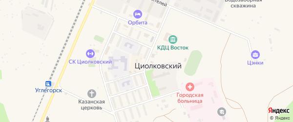 Красногвардейская улица на карте поселка Углегорска с номерами домов