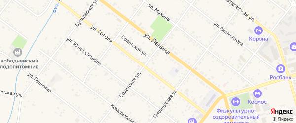 Советская улица на карте Свободного с номерами домов