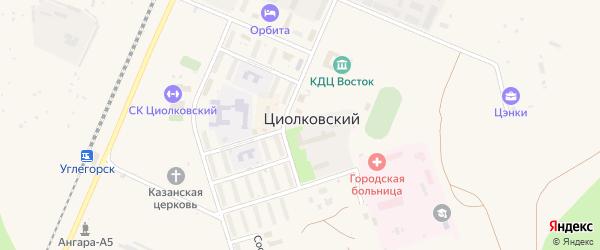 Молодежная улица на карте поселка Углегорска с номерами домов